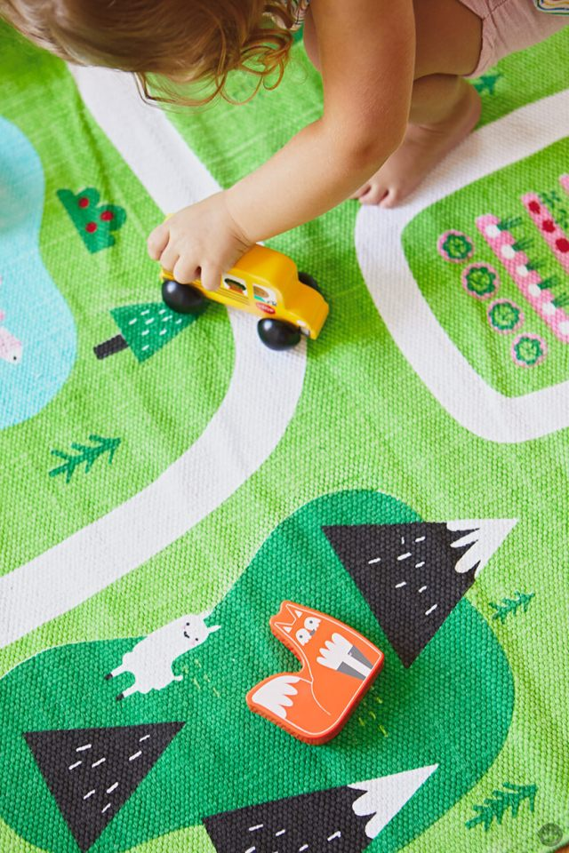 Playing with Hallmark's new Learn+Play+Discover Toys for Toddlers
