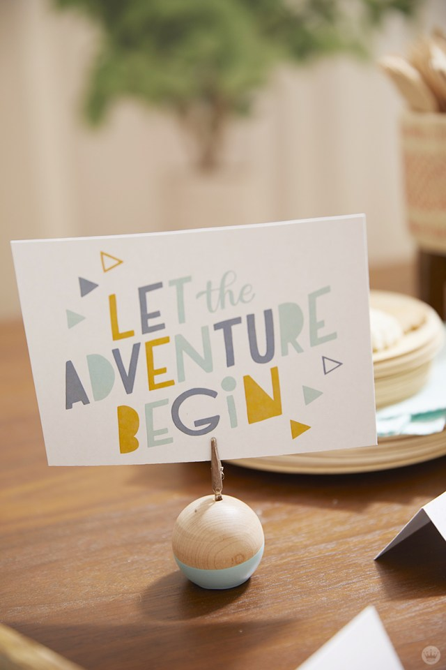 Let the Adventure begin printable design