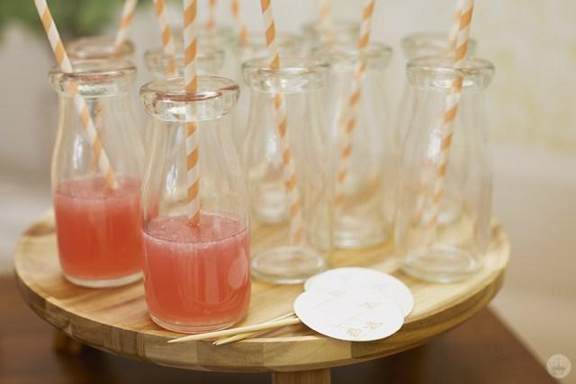 Drinks served in mini milk bottles