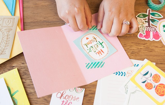 Making a card for National Card and Letter Writing Month