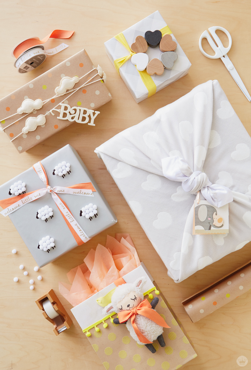 f2c2760a2 Baby gift wrap ideas: Showered with love - Think.Make.Share.
