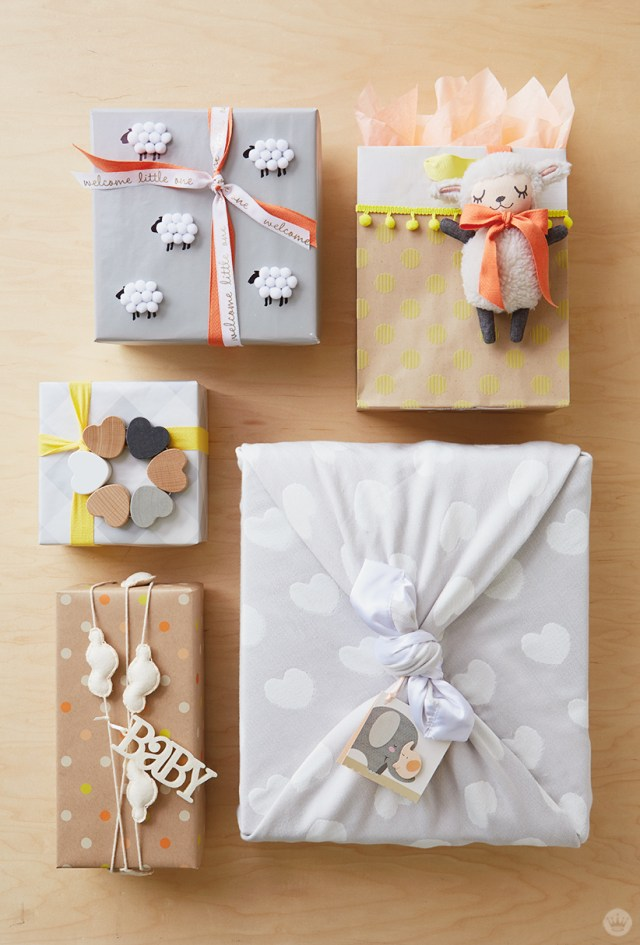 Baby Giftwrap Ideas   thinkmakeshareblog