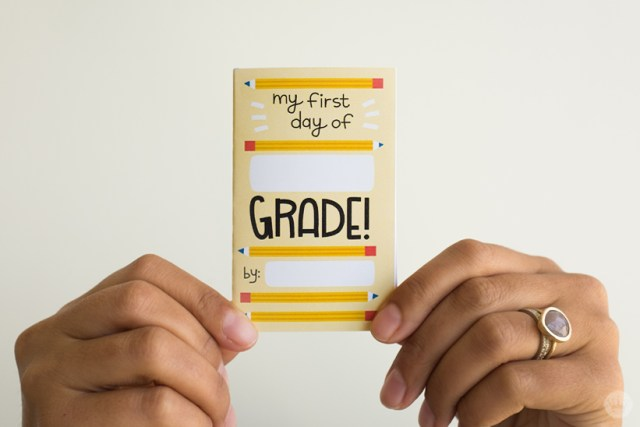 Back to school zine: Add your child's grade and name