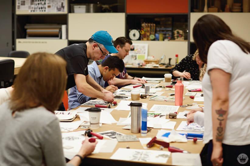 Block Printing Workshop | thinkmakeshareblog.com
