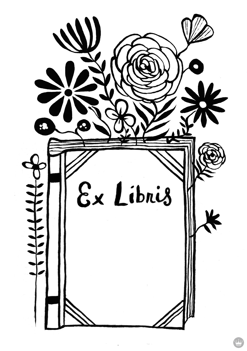 image relating to Free Printable Bookplates for Adults known as Artist manufactured Bookplates for #NationalBookLoversDay - Consider