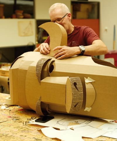 Cardboard Costumes | thinkmakeshareblog.com