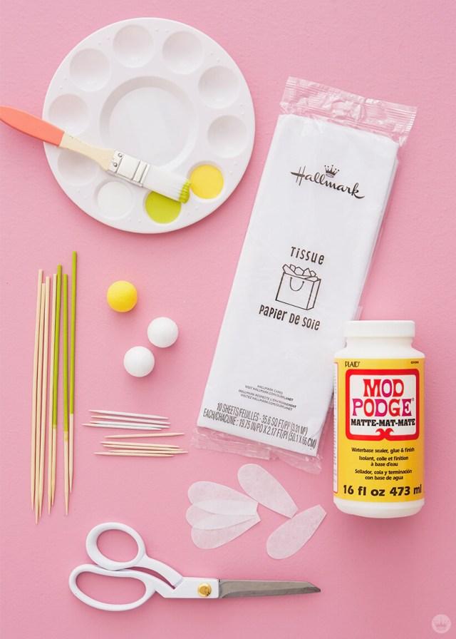 Supplies for DIY Daisy Cake Toppers | thinkmakeshareblog.com