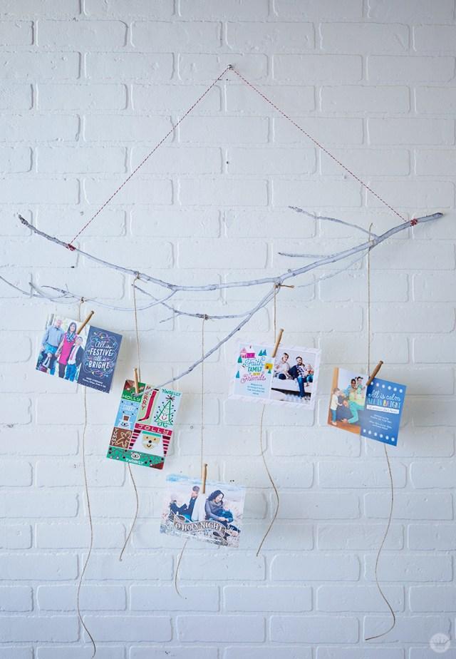 6 DIY Christmas card holder and display ideas - Think.Make.Share.