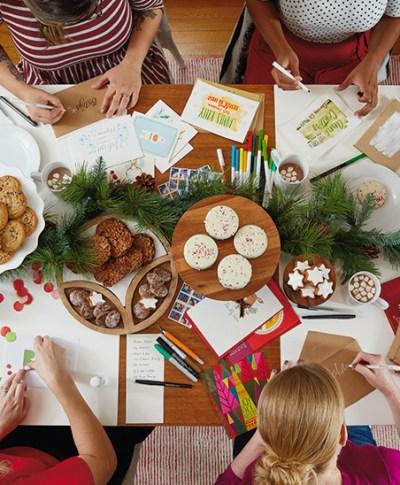 Christmas Card Sending Party | thinkmakeshareblog.com