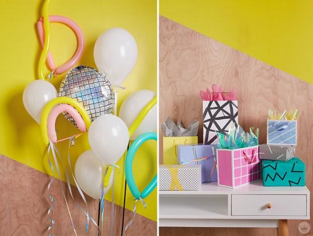 Retro party decorations