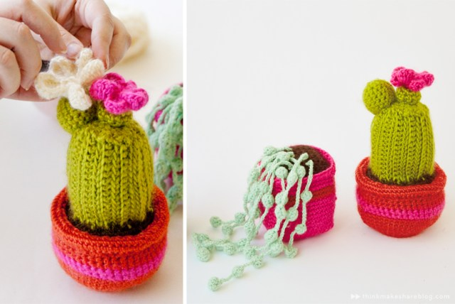 Crochet cacti macrame by Hallmark designer Hannah Carey | thinkmakeshareblog.com