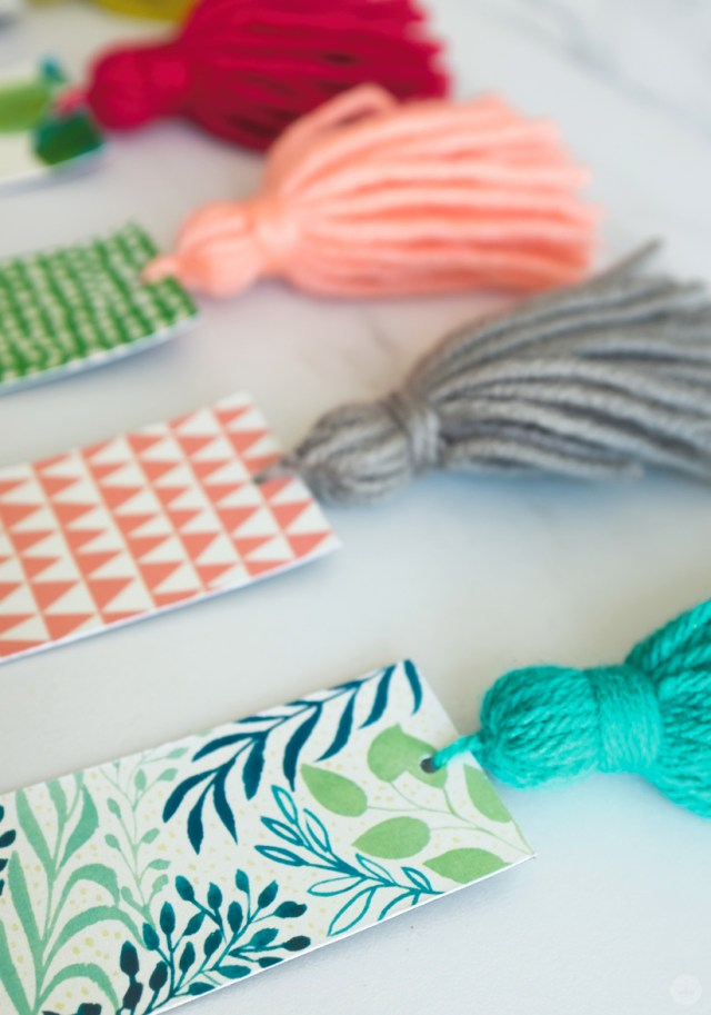 DIY bookmarks with tassels for spending Mother's Day time together