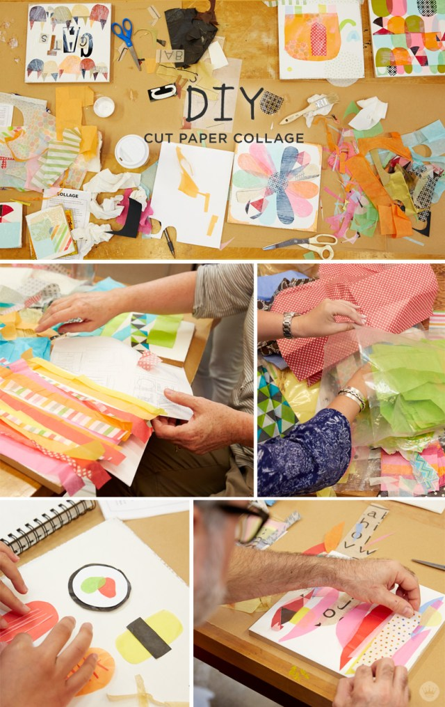 DIY CUT PAPER COLLAGE with Hallmark artists | thinkmakeshareblog.com