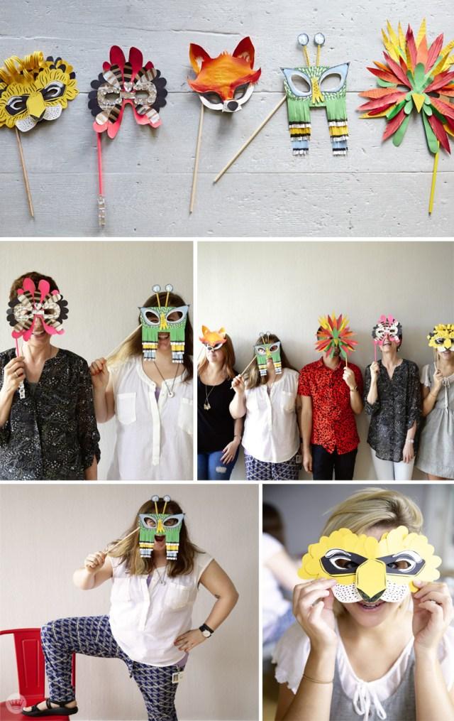 DIY Halloween mask | simple costume ideas | thinkmakeshareblog.com