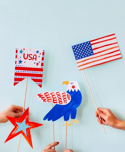 DIY July 4 Photo Props | thinkmakeshareblog.com