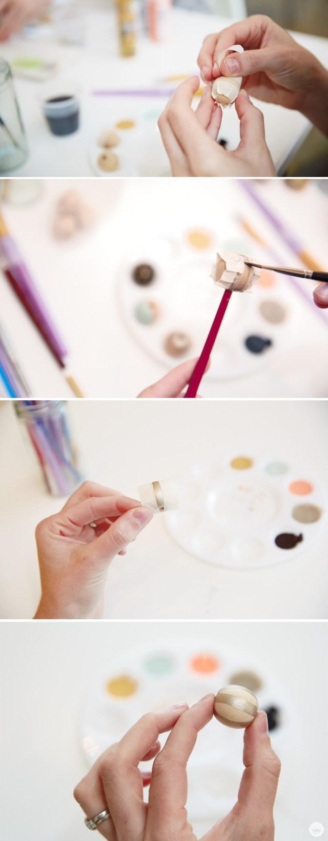 DIY Painted Bead Necklace from Hallmark | thinkmakeshareblog.com