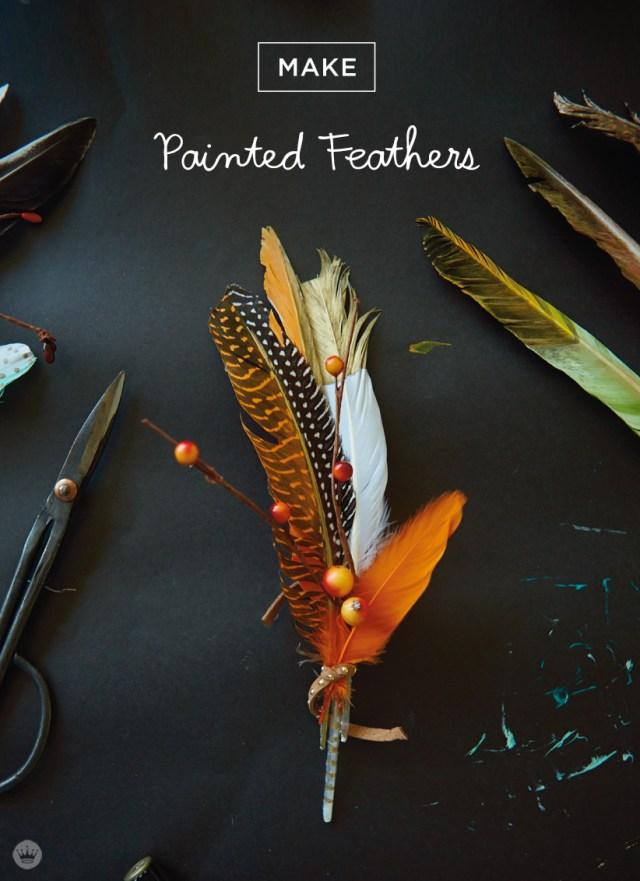 DIY Painted Feathers   thinkmakeshareblog.com
