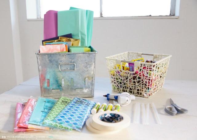 DIY pinatas out of Hallmark tissue paper | thinkmakeshareblog.com
