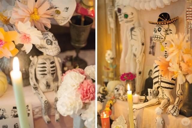 Traditional Dia de los Muertos decorations