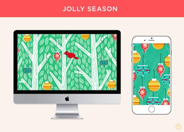 Free December 2018 digital wallpapers: Jolly Season