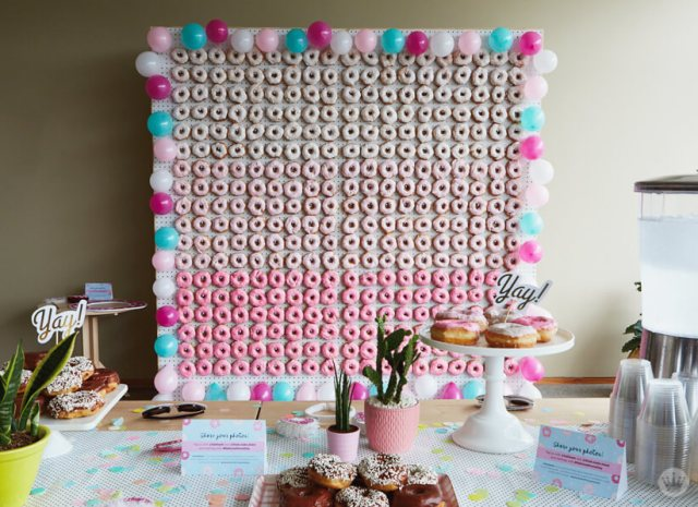 Giant Donut Wall for National Donut Day