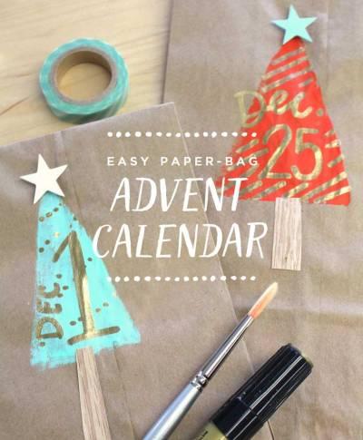 Easy paper-bag advent calendar | thinkmakeshareblog.com