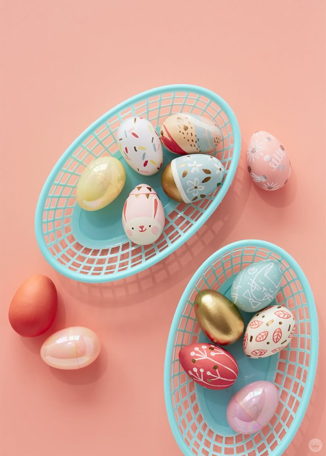 2019 Easter egg decorating ideas: Eggs in different styles