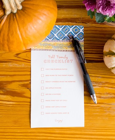 Fall Checklist September Slider | thinkmakeshareblog.com