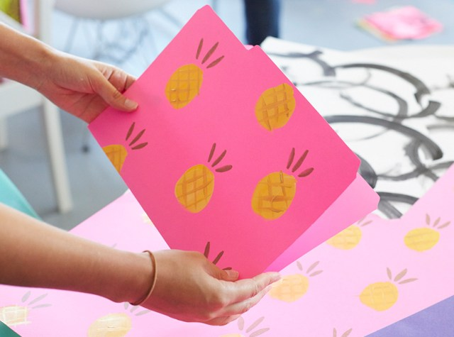 Dorm room decor: Fancy DIY file folders