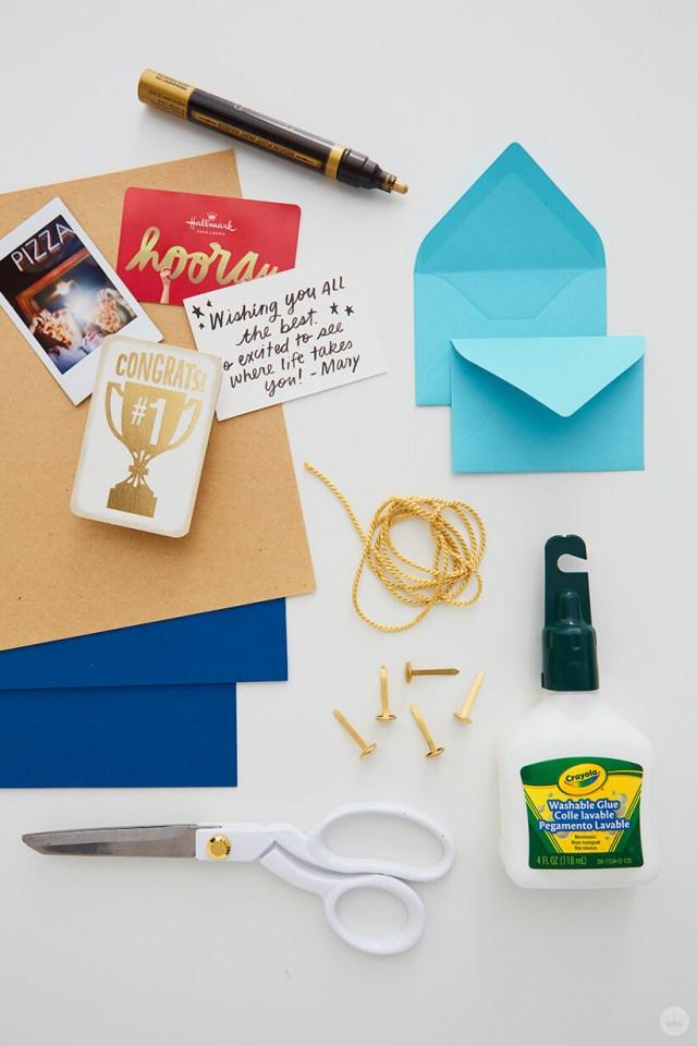 Supplies for the Mini Graduation Gift | thinkmakeshareblog.com