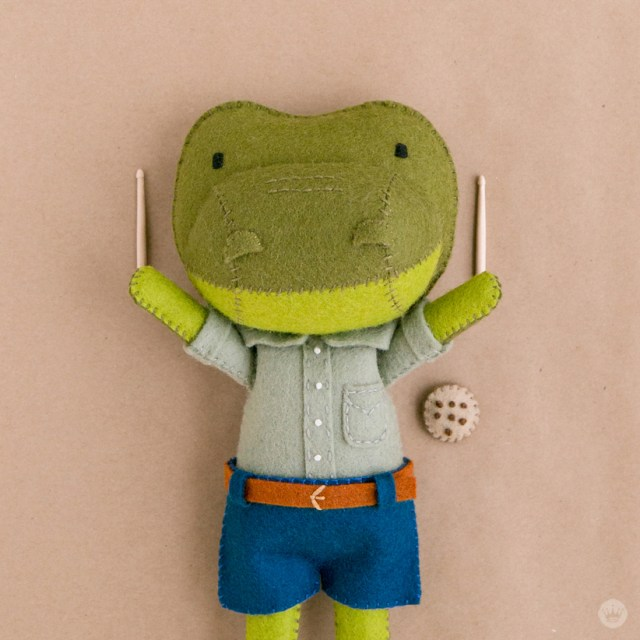 At Home With Hand Stitched Plush Alligator Creator Leslie