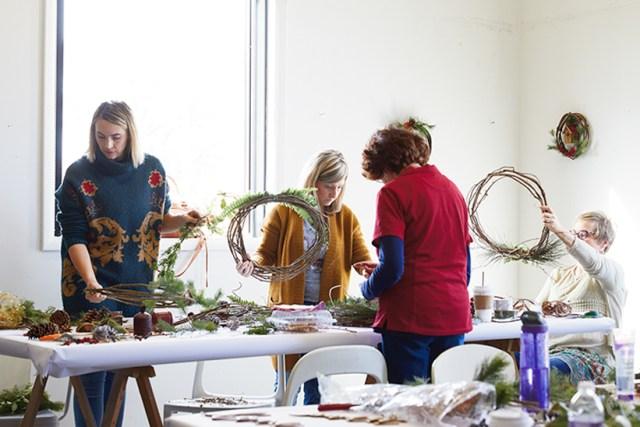 Modern Christmas wreath ideas: Grapevine wreath workshop