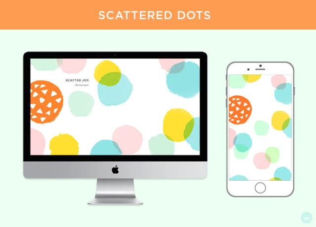 FREE JULY 2018 DIGITAL WALLPAPERS scattered dot art