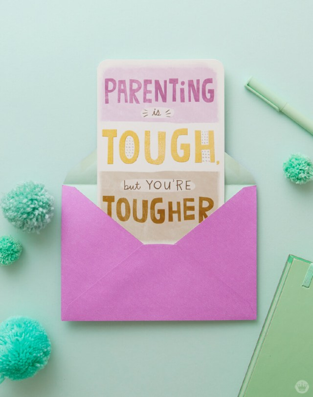 Just Because Cards: Greeting card to encourage a mom or dad