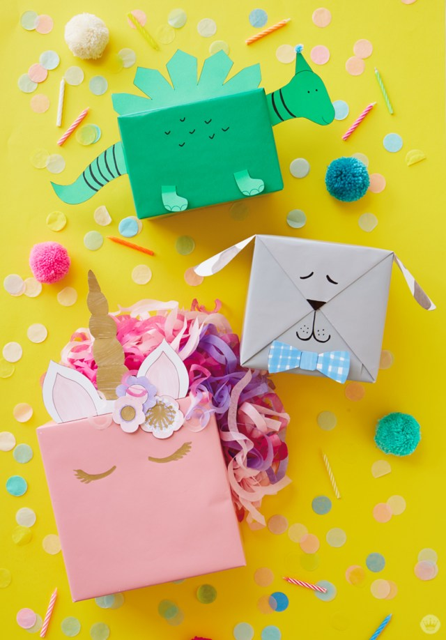 Cute Kids Gift Wrap Ideas Turn Presents Into Animals With Free