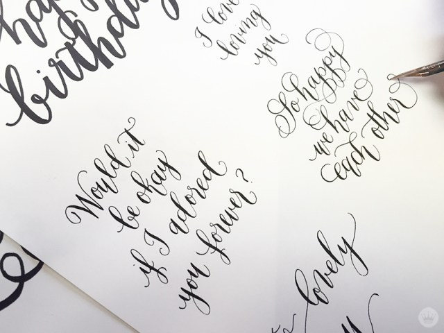 Examples from Laura Hooper Calligraphy.
