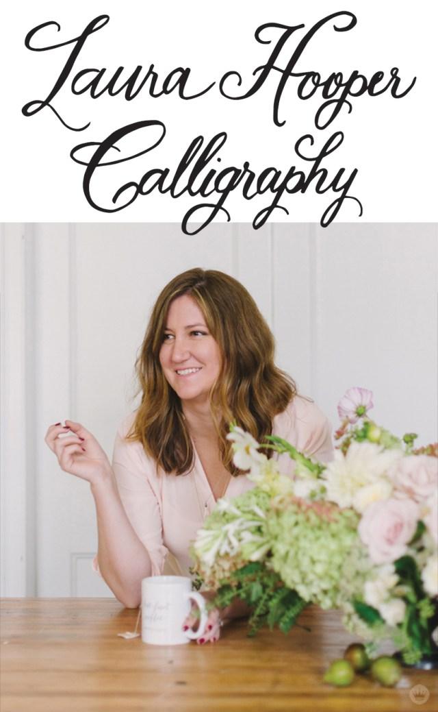 Calligrapher Laura Hooper