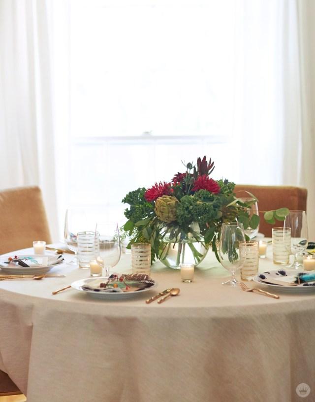 Low-Stress Friendsgiving tabletop inspiration | thinkmakeshareblog.com
