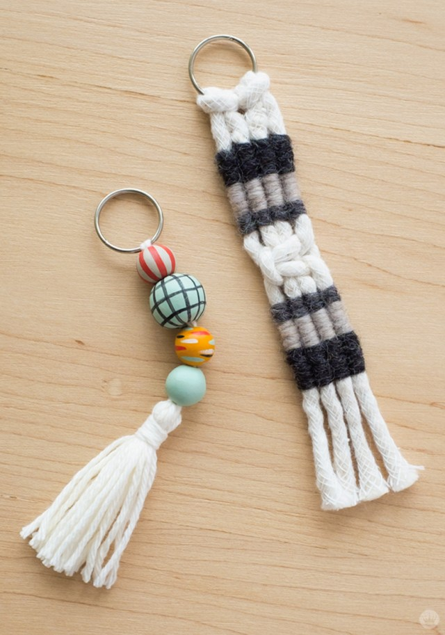 Spend Mother's Day time together by making these macrame keychains