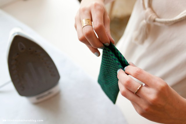 Make your own clip-on bow tie | step five | thinkmakeshareblog.com
