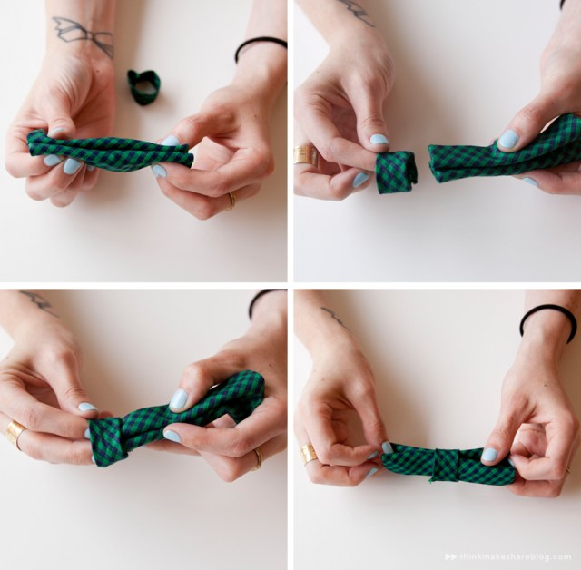 Make your own clip-on bow tie | step nine | thinkmakeshareblog.com