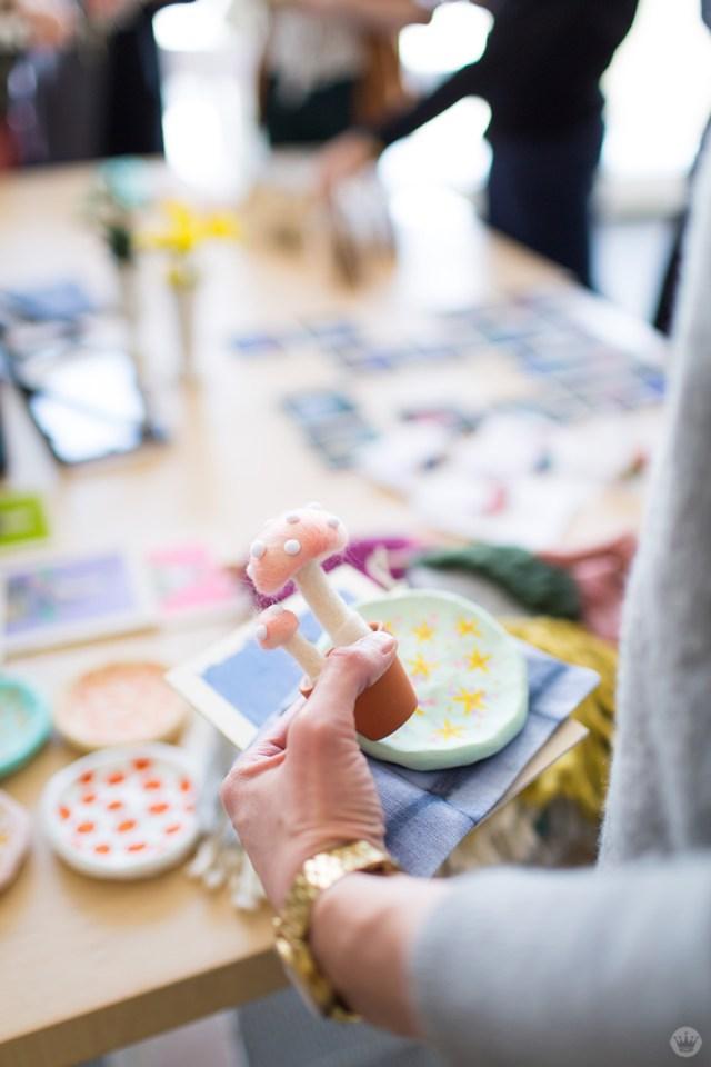 Handmade gift exchange: Hannah C.'s felt mushrooms