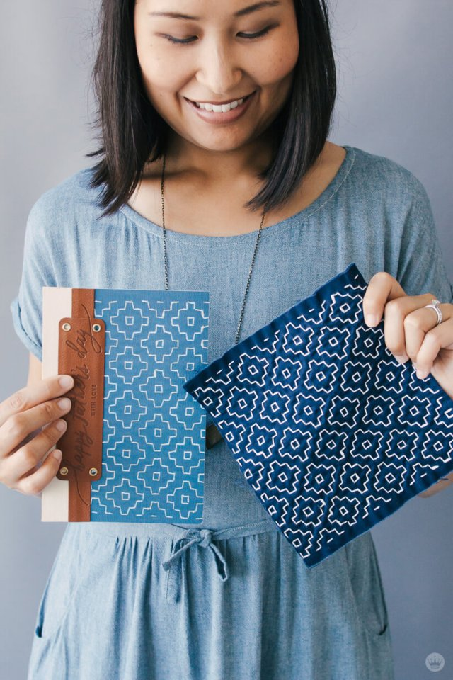 Hallmark Designer Riga S. shares the fabric inspiration behind her Man Made Father's Day cards