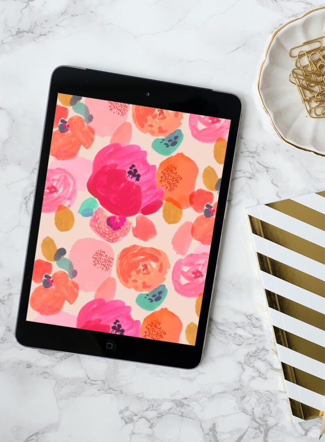 Ipad with free March 2019 digital wallpapers | thinkmakeshareblog.com