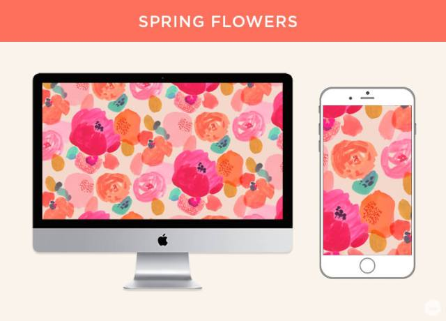 Free March 2019 digital wallpapers: Spring Flowers
