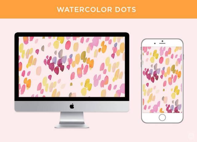 Free May 2018 digital wallpapers: Watercolor dots