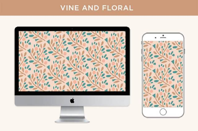 Free May 2020 digital wallpapers: Vine and Flora