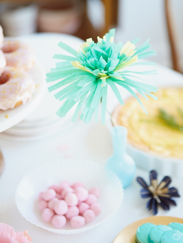 Paper flowers from Mother's Day Brunch