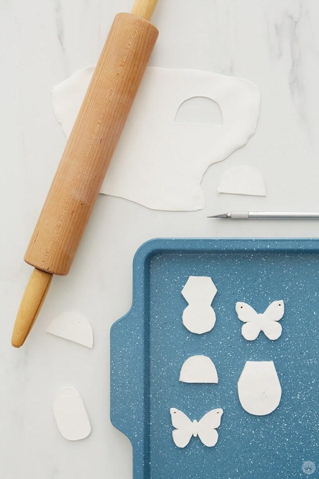 faire cuire les épingles d'argile pour les pièces jointes d'argile bricolage | thinkmakeshareblog.com