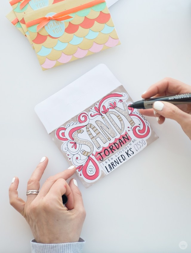 Painted /& Hand Lettered Greetings A-2 Wedding Greeting Card Best Day Ever Calligraphy